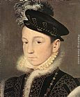 eze cote dazur france Paintings - Portrait of King Charles IX of France