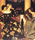 Frank Cadogan Cowper Venetian Ladies Listening to a Serenade painting