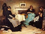Frank Holl The Song Of The Shirt painting