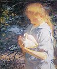 Frank Weston Benson Eleanor Holding a Shell painting