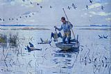 Frank Weston Benson Retrieving Geese painting