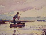 Frank Weston Benson The Punter painting