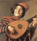 Frans Hals Buffoon Playing a Lute painting