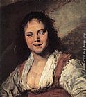 Frans Hals Gypsy Girl painting