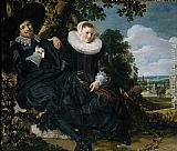 Frans Hals Marriage Portrait of Isaac Massa en Beatrix van der Laen painting