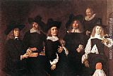 Frans Hals Regents of the Old Men's Alms House painting