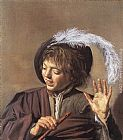 Frans Hals Singing Boy with a Flute painting