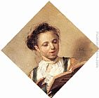 Frans Hals Singing Girl painting