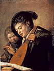 Frans Hals Two Boys Singing painting