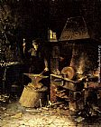 Frans Mortelmans At The Forge painting