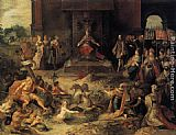 Frans the younger Francken Allegory on the Abdication of Emperor Charles V in Brussels, 25 October 1555 painting
