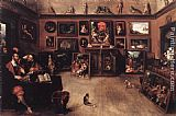 Frans the younger Francken An Antique Dealer's Gallery painting