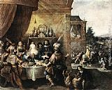 Frans the younger Francken Feast of Esther painting