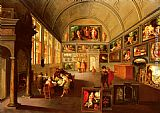 Frans the younger Francken The interior of a picture gallery painting
