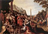 Frans the younger Francken Worship of the Golden Calf painting