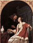 Frans van Mieris A meal of Oysters painting