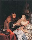Frans van Mieris Carousing Couple painting