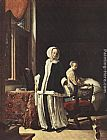 Frans van Mieris Young woman in the morning painting