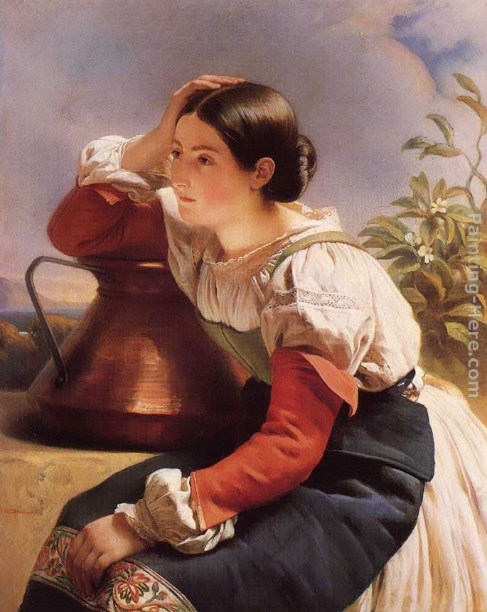 Franz Xavier Winterhalter Young Italian Girl by the Well