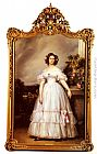 Franz Xavier Winterhalter A Full-Length Portrait Of H.R.H Princess Marie-Clementine Of Orleans painting