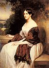 Franz Xavier Winterhalter Portrait of Madame Ackerman, the wife of the Chief Finance Minister of King Louis Philippe painting