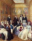Franz Xavier Winterhalter Queen Victoria and Prince Albert with the Family of King Louis Philippe at the Chateau D'Eu painting
