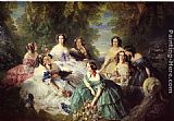 Franz Xavier Winterhalter The Empress Eugenie Surrounded by her Ladies in Waiting painting
