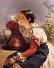 Franz Xavier Winterhalter Young Italian Girl by the Well painting