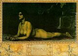Franz von Stuck The Sphinx painting