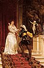 Frederic Soulacroix The Cavalier's Kiss painting