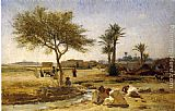 Frederick Arthur Bridgman An Arab Village painting
