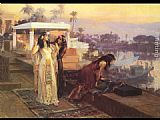 Frederick Arthur Bridgman Cleopatra on the Terraces of Philae painting