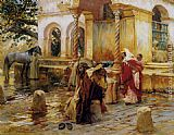 Frederick Arthur Bridgman Fountain of Borkadem painting