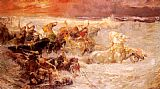 Frederick Arthur Bridgman Pharaoh's Army Engulfed By The Red Sea painting