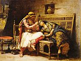 Frederick Arthur Bridgman Queen of the Brigands painting