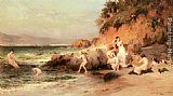 Frederick Arthur Bridgman The Bathing Beauties painting