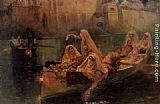 Frederick Arthur Bridgman The Harem Boats painting