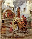Frederick Arthur Bridgman The Orange Seller painting