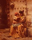 Frederick Arthur Bridgman The Reading Lesson painting