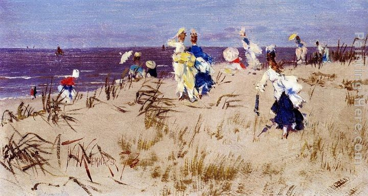 Frederick Hendrik Kaemmerer Elegant Women On The Beach