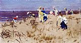 Frederick Hendrik Kaemmerer Elegant Women On The Beach painting
