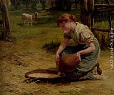 Frederick Morgan Milk For The Calves painting
