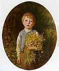 Frederick Morgan The Flower Gatherer painting