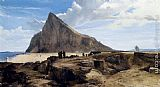 Frederick Richard Lee R.A The Rock Of Gibraltar painting