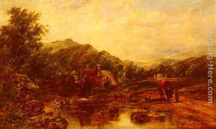 Frederick Waters Watts A Mill Stream Among The Hills