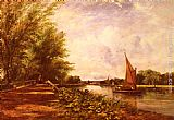 Frederick Waters Watts The Riverbank painting