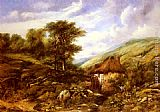 Frederick William Watts An Overshot Mill In A Wooded Valley painting