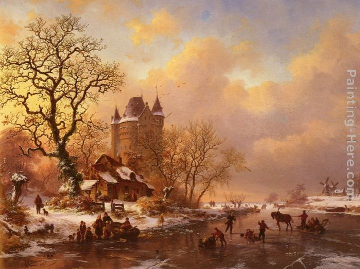 Frederik Marianus Kruseman Skating in the Midst of Winter
