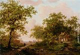 Frederik Marianus Kruseman Cattle in a Summer Landscape painting