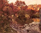Fritz Thaulow Golden Autumn, Brittany painting